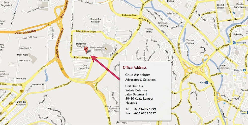 Chua Associates Office Map